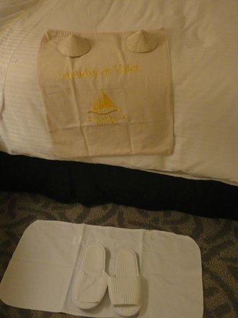 Caravelle Saigon :                   Bed preparation in the evening
