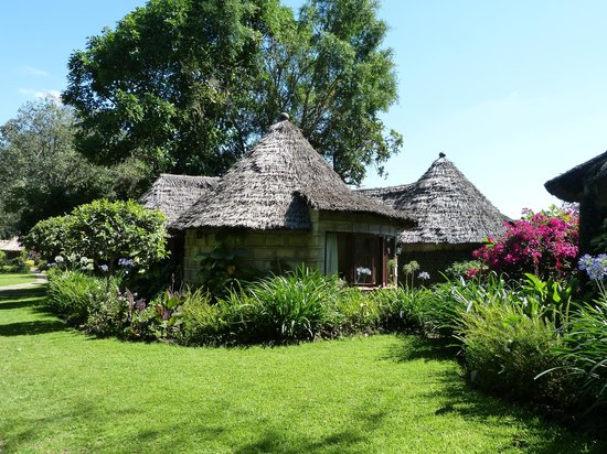 Lake Duluti Serena Hotel: Gardens and cluster of rooms