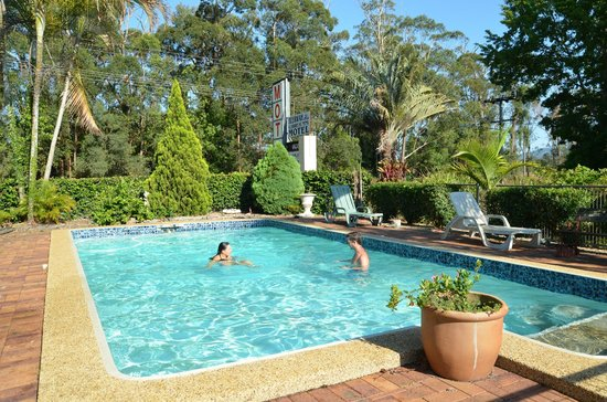 Beerwah Glasshouse Motel: swimming people