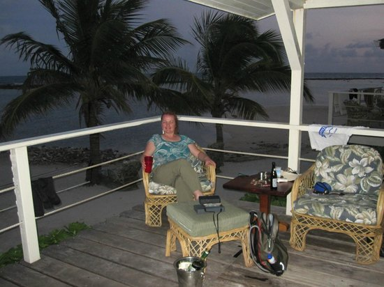 Turneffe Flats : the deck of our cabana