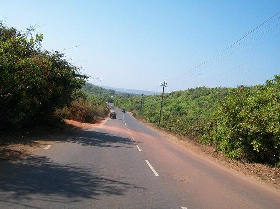 Mandrem Beach: Road to Mandrem
