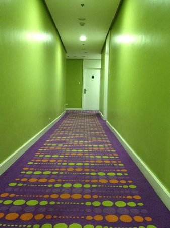 The Bayleaf Intramuros: Colorful and bright hallway