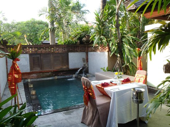Rama Beach Resort And Villas Private Dinner Setup By Our Plunge Pool