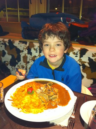Restaurant Chuestall : sliced beef with roesti