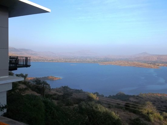 Tungi Lake Pavna: View from Hotel