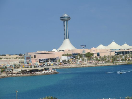 Hilton Abu Dhabi: View from my 6th floor sea facing room