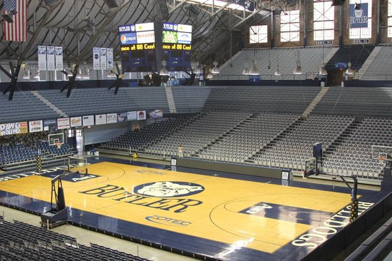 Hinkle Fieldhouse: Looking down onto the court