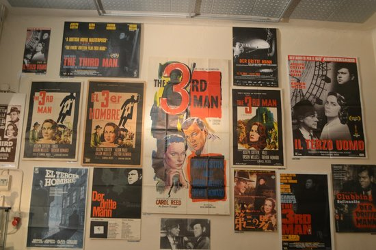 The Third Man Museum: Wall of posters
