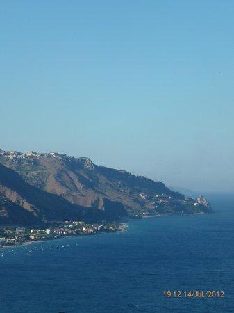 Hotel La Pensione Svizzera: view of Mazzaro bay from our terrace
