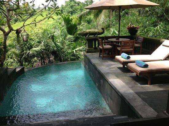 Bidadari Private Villas & Retreat: Villa 4 - Poolbereich