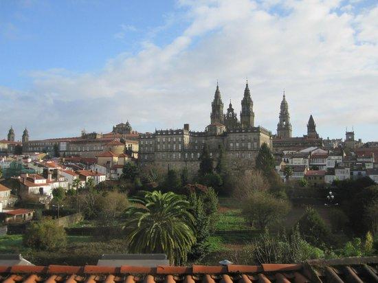 Hotel Pazos Alba: Vistas desde el ventanal de la segunda planta