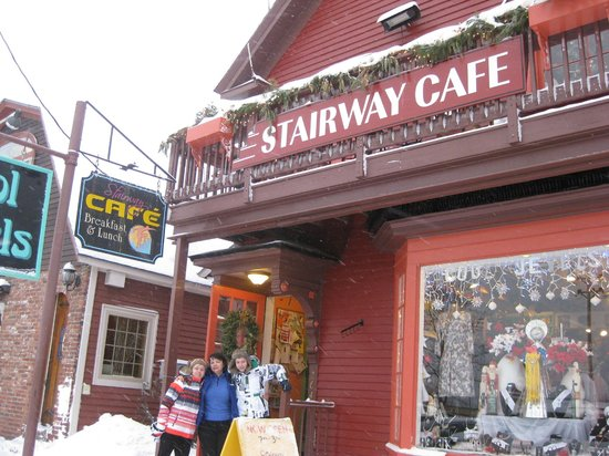 The Stairway Cafe: outside stairway cafe