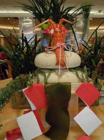 The Okura Prestige Taipei: バイキングの部屋のお正月飾り