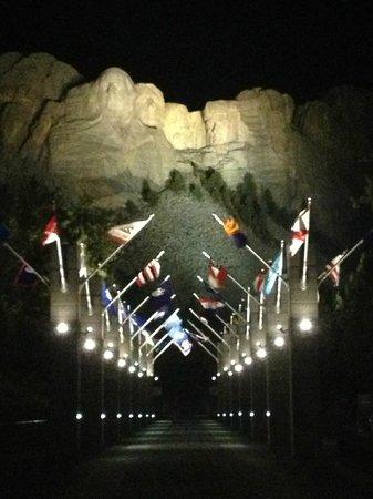 Keystone, SD: Mt. Rushmore at night