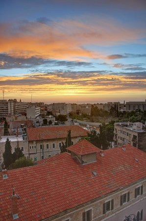 Jerusalem Tower Hotel: The View from my Room at Sunrise.