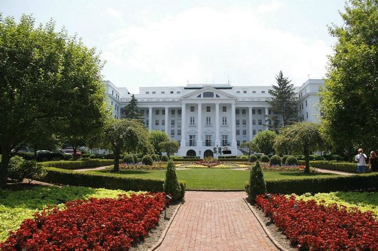 The Greenbrier: This is actually the BACK of the hotel - it's huge