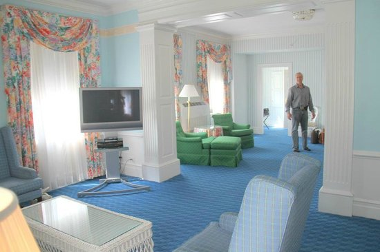 The Greenbrier: our room is so big - we love it!