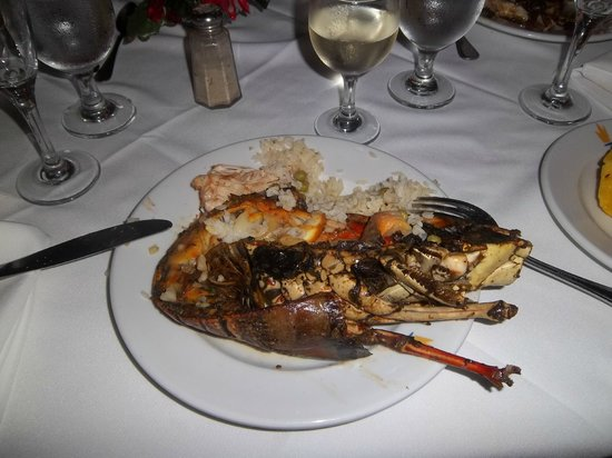 Caribe Club Princess Beach Resort & Spa: langouste