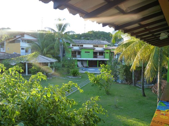 Paraiso do Morro: Vista al jardín desde la habitación