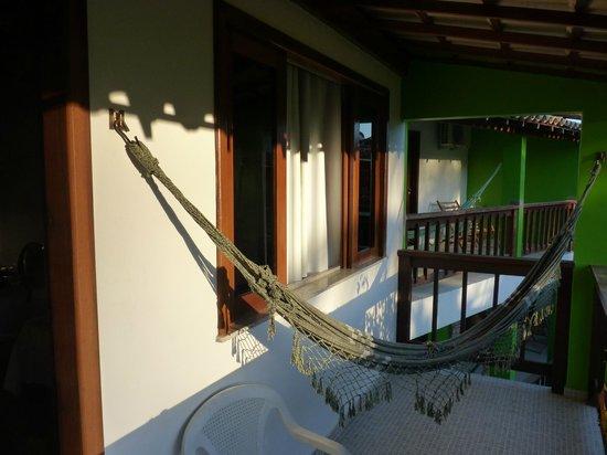 Paraiso do Morro: Balcón con hamaca