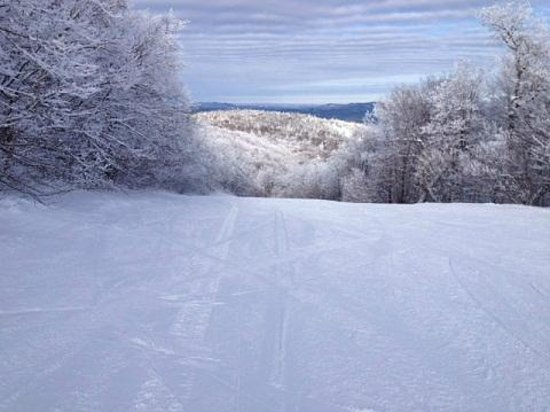 Mountain Lodge at Okemo: How often do you get the trail to yourself?!