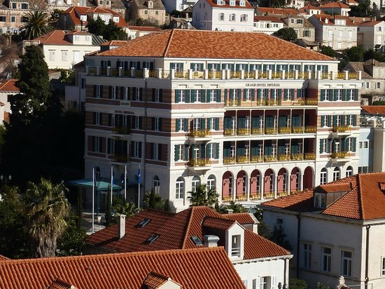 Hilton Imperial Dubrovnik:                   The Hilton Imperial Hotel from the hill near Lovernijac Castle