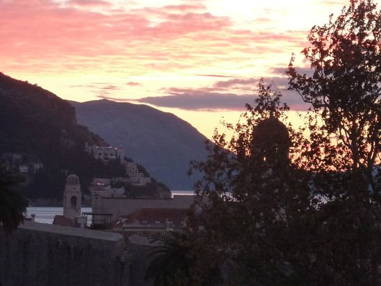 Hilton Imperial Dubrovnik:                   Sunrise view from Hilton Imperial looking towards Old Town Dubrovnik