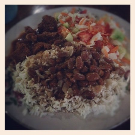 Clarissa Falls Resort: beans and rice...normally not a fan but this was deeeelish! Best meal of the trip