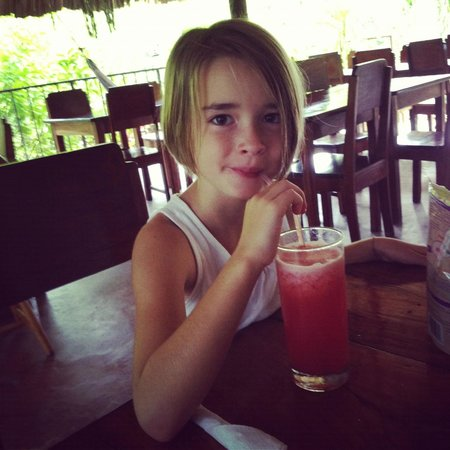 Clarissa Falls Resort : Ms. Chena's watermelon juice