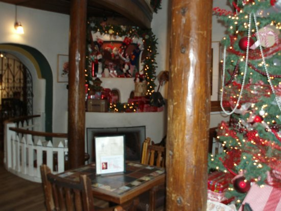 "Doc Martin's Restaurant: Holiday decor in the ""living room of Taos"""