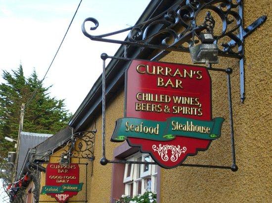 Curran's Bar & Seafood steak House: sign