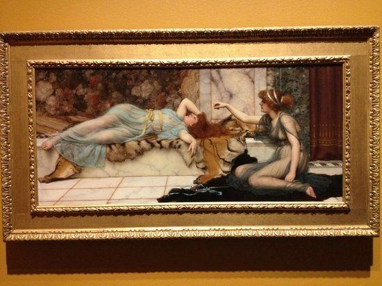 "The Getty Center: ""Mischief & Repose"" by J.W.Godward"