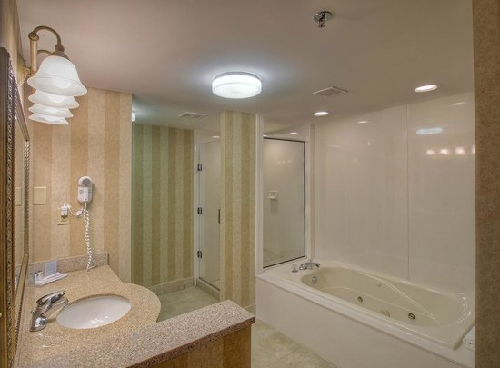 Hampton Inn Kingsport: King Hospitality Suite spacious bathroom