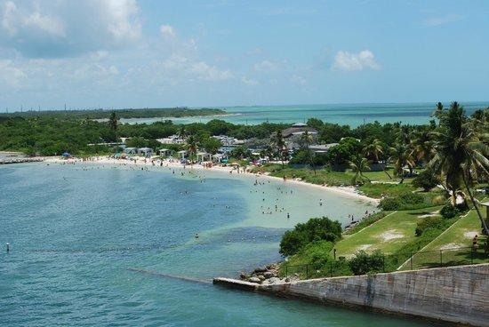 Bahia Honda State Park and Beach :                   A View of Bahia Honda from the Old bridge