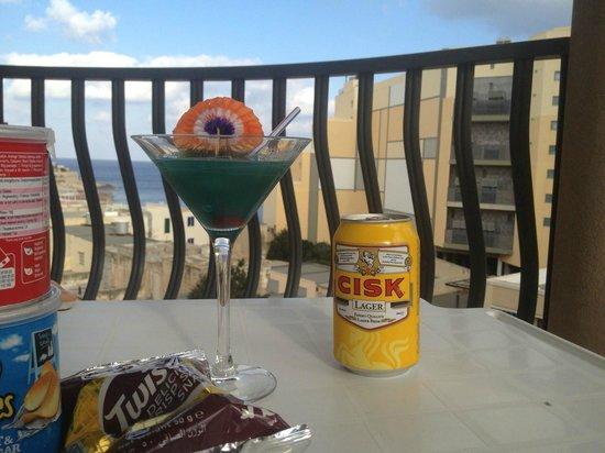 Alexandra Hotel Malta: Balcony