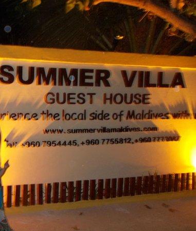 Summer Villa Guest House: Hotel entrance 