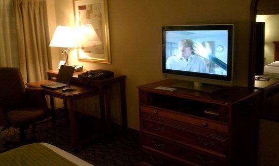 Holiday Inn Clark - Newark : Flat sceen TV and work desk