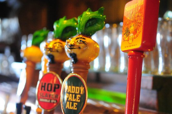 The Onion Pub & Brewery: Wild Onion Brewing Co. tap handles