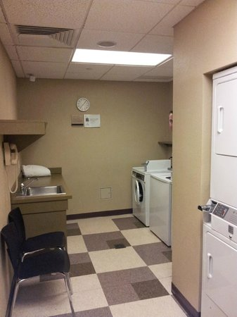 clean laundry room ( sorry for hubby's sneaky photo bomb)