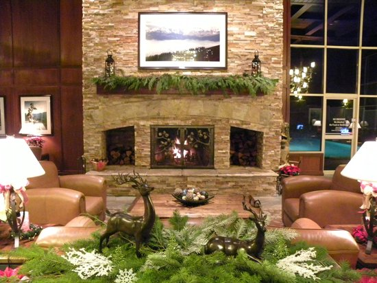 Olympic Lodge: Loved the fireplace
