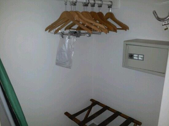 St. James's Club Morgan Bay: closet space and safe in room with ironing board/iron