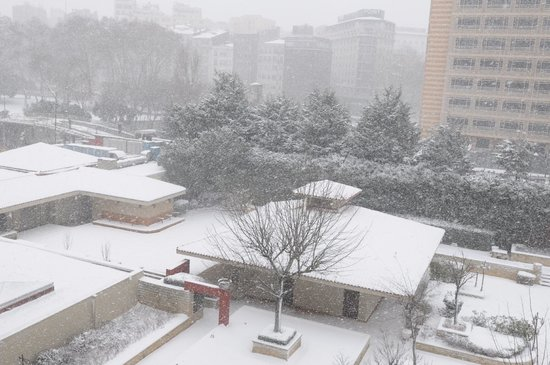 Grand Hyatt Istanbul: Snow view from the room 2