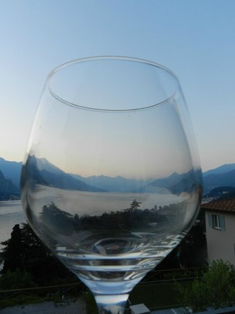 Borgo Le Terrazze: Looking north through an evening glass