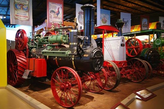 Western Development Museum: Part of the older farm machinery on display