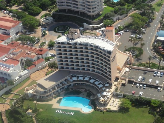 Beverly Hills: Beverley Hills Hotel Umhlanga Rocks Durban South Africa from the air.