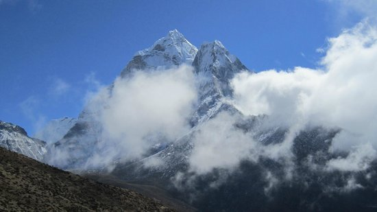 Peak Mountaineering Day Tours: Ama Dablam partly obscured by cloud