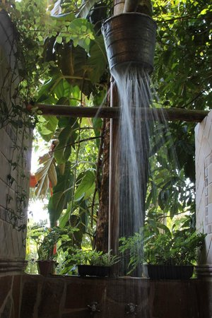 Ian Anderson's Caves Branch Jungle Lodge: Outdoor shower