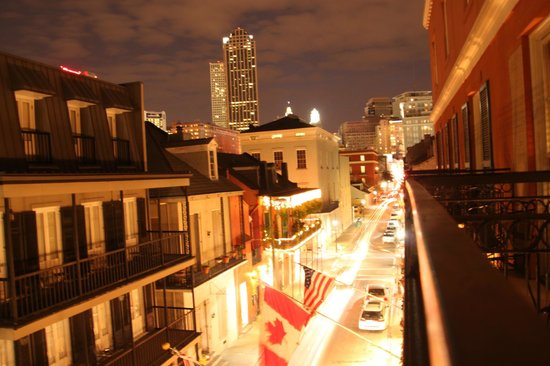 Dauphine Orleans Hotel: View from our room at night.