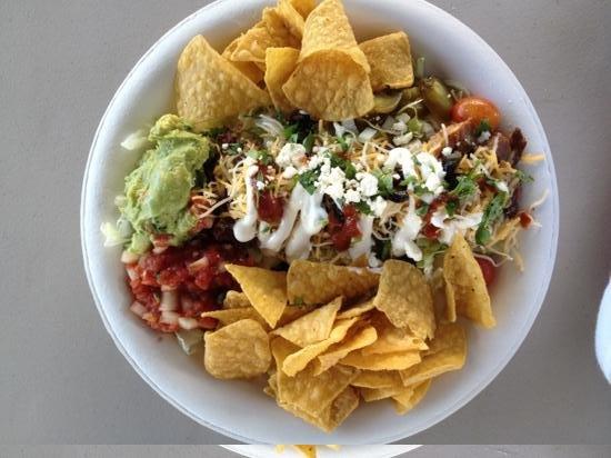 La Ray's Tacos Plus: Taco salad with carnitas pork