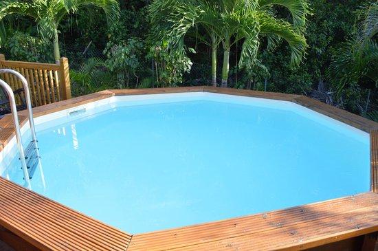 Ti Kaz Malanga : la piscina privata di ogni villetta